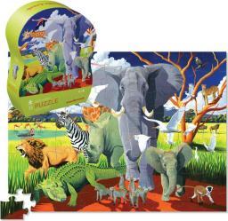 Crocodile Creek Puzzle 72 elementy - Dzikie Safari
