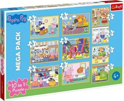 Trefl Puzzle 10w1 Świnka Peppa z przyjaciółmi