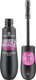 Essence Tusz do rzęs I Need A Miracle! Volumizing&Strengthening Mascara 01 Black 16ml