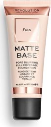 Makeup Revolution Matte Base Fundation F0.5 28ml