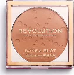 Makeup Revolution Prasowany puder Bake & Blot Peach