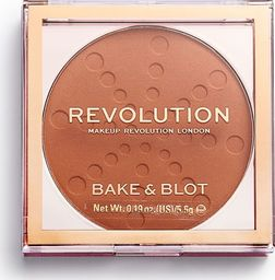 Makeup Revolution Puder w kamieniu Bake & Blot Orange