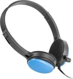Słuchawki UGO Słuchawki nauszne USL-1221 z mikrofonem, niebieskie -USL-1221