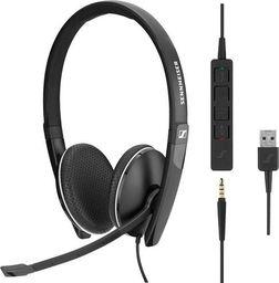 Słuchawki z mikrofonem Sennheiser Słuchawki SC 165 USB Skype for Business -508317