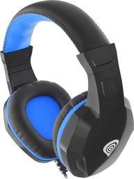 Słuchawki Natec Słuchawki dla graczy Genesis Argon 100 z mikrofonem czarno-niebieskie-NSG-1436