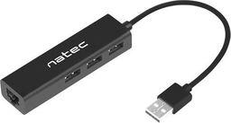 HUB USB Natec Hub USB Dragonfly 3 porty USB 2.0 + RJ45 -NHU-1413