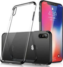 Hurtel Clear Color case żelowy pokrowiec etui z metaliczną ramką Samsung Galaxy A50 czarny uniwersalny