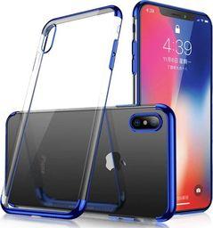Hurtel Clear Color case żelowy pokrowiec etui z metaliczną ramką Samsung Galaxy A40 niebieski uniwersalny