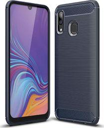 Hurtel Carbon Case elastyczne etui pokrowiec Samsung Galaxy A40 niebieski uniwersalny