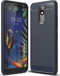 Hurtel Carbon Case elastyczne etui pokrowiec LG K40 X420 niebieski uniwersalny