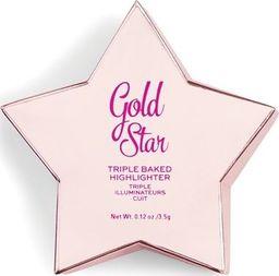 Makeup Revolution I Heart Revolution Star of the Show Rozświetlacz Gold Star 3.5g