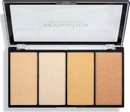 Makeup Revolution Makeup Revolution Re-Loaded Paleta rozświetlaczy Lustre Lights Warm  1szt