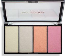 Makeup Revolution Makeup Revolution Re-Loaded Paleta rozświetlaczy Lustre Lights Cool  1szt