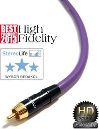 Kabel Melodika RCA (Cinch) - RCA (Cinch) 0.5m fioletowy