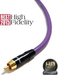 Kabel Melodika RCA (Cinch) - RCA (Cinch) 20m fioletowy