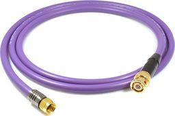 Kabel Melodika BNC - wtyk F 0.5m fioletowy
