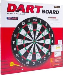Tarcza dart sizalowa 38 cm + 6 rzutek EB030232/BT171524