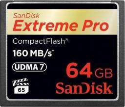 Karta pamięci SanDisk Karta pamięci SanDisk Extreme Pro CF 160MB/s 64 GB (SDCFXPS-064G-X46)