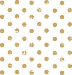 GOMAR Serwetki Lunch 33x33 Dots allover gold