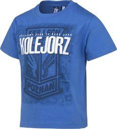 KKS Lech Koszulka Dziecięca Kolejowy Herb S603201 niebieski 128 cm