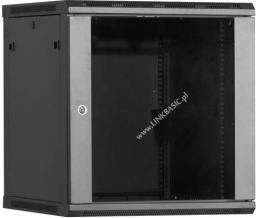 Szafa Linkbasic Wisząca rack 15U 450mm czarna (do samodzielnego montażu) - (WCB15-645-BAA-C)