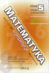 Matematyka SP 5 korepetycje w.2018 GREG