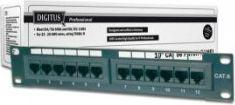 "Digitus Patch panel DIGITUS 10"" 12x RJ45 UTP kat. 5e 1U (RAL 9005)  DN-91512U"