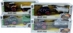 Askato Traktor metalowy z przyczepą