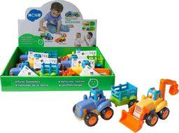 Askato Plastikowy traktorek z przyczepką