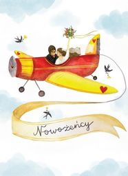 HENRY Karnet B6 Ślub - Samolot