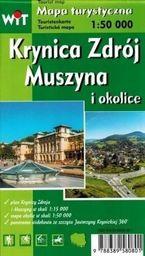 Mapa tur. - Krynica Zdrój, Muszyna i okolice WIT