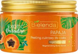 Bielenda Exotic Paradise Peeling cukrowy do ciała regenerujący Papaja 350g