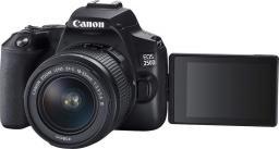 Lustrzanka Canon EOS 250D + EF-S 18-55mm f/3.5-5.6 III + CB-SB130 + 16GB