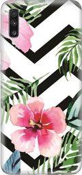 CaseGadget Nakładka do Samsung Galaxy A70 tropikalne kwiaty