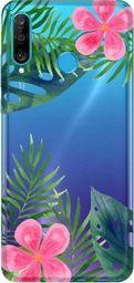 CaseGadget Nakładka do Huawei P30 Lite liście i kwiaty