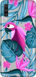 CaseGadget Nakładka do Samsung Galaxy A70 papuga i kwiaty