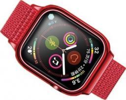 Usams Pasek z etui Apple Watch 4 44mm. czerwony/red ZB74IW3 (US-ZB074)