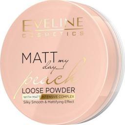 Eveline Matt My Day Puder sypki wygładzająco - matujący Peach 6g
