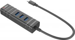 HUB USB Lindy USB 3.1 Hub & Gigabit Ethernet Adapter USB Typ C