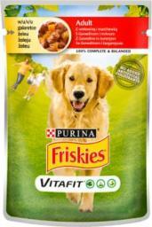 Purina Saszetka Friskies Dog Adult Wołowina i marchewka w galaretce 100g