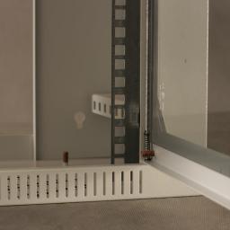 Szafa NetRack Wisząca 19'', 4,5U/240 mm - popiel, drzwi przeszklone (019-045-240-011)