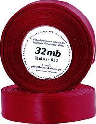 Pogotowie Florystyczno Ślubne Wstążka satynowa 6mm/32mb ciemnoczerwony