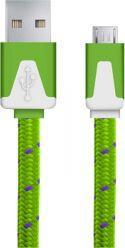 Kabel USB Esperanza Usb Micro A-b 1m PŁaski Oplot Zielony