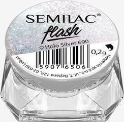 Semilac Pyłek do paznokci Flash Holo Silver 690 0.2g