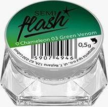 Semilac Pyłek do paznokci SemiFlash Green Venom 03 0.5g