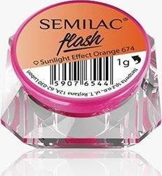 Semilac Pyłek Semilac Flash Sunlight Effect Orange 674 uniwersalny