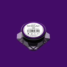 Semilac Semilac Kolorowy lakier żelowy 147 Violet In The Dark 5ml uniwersalny