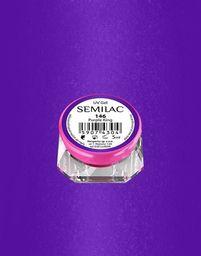 Semilac Semilac Kolorowy lakier żelowy 146 Purple King 5ml uniwersalny