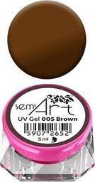 Semilac Semilac UV Gel Semi-Art 005 Brown - 5 ml uniwersalny