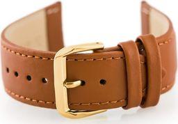 Pacific Pasek skórzany do zegarka W30 - w pudełku - camel/złoty - 24mm uniwersalny